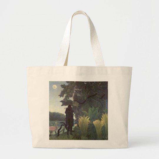 Henri Rousseau Painting Large Tote Bag