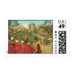 Henri Rousseau Painting Postage
