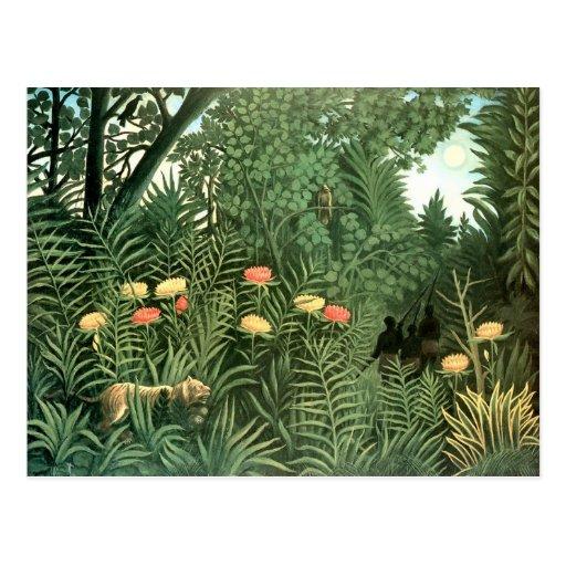 Henri Rousseau Painting Post Card