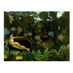 Henri Rousseau Painting Postcard