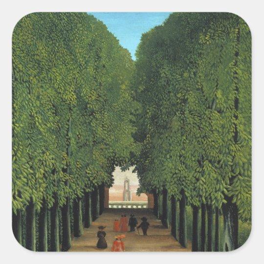 Henri Rousseau Painting Square Sticker