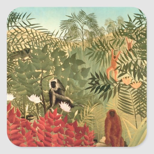 Henri Rousseau Painting Stickers