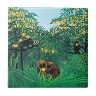 Henri Rousseau que las zonas tropicales tejan Azulejos