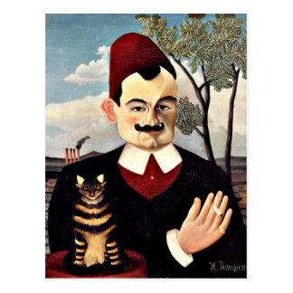Henri Rousseau - retrato de Monsieur X Tarjeta Postal
