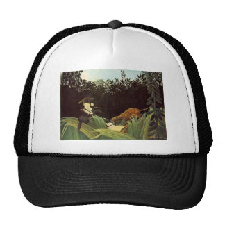 Henri Rousseau- Scout Attacked by a Tiger Trucker Hat