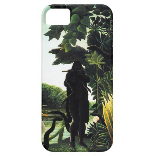 Henri Rousseau Snake Charmer iPhone Case iPhone 5 Cases