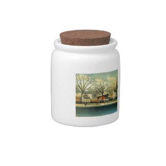 Henri Rousseau- Suburban Scene Candy Jar
