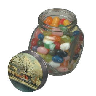 Henri Rousseau- Suburban Scene Glass Jar