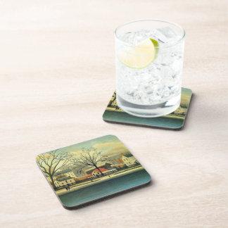 Henri Rousseau- Suburban Scene Beverage Coaster