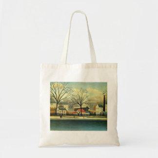 Henri Rousseau- Suburban Scene Tote Bag