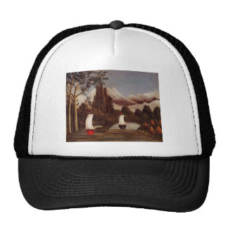 Henri Rousseau- The Banks of the Oise Trucker Hat