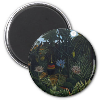 Henri Rousseau - The Dream 2 Inch Round Magnet