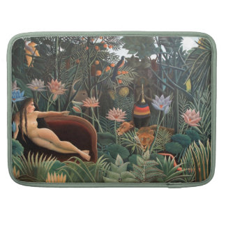 Henri Rousseau The Dream Jungle Flowers Naive Art Sleeves For MacBooks