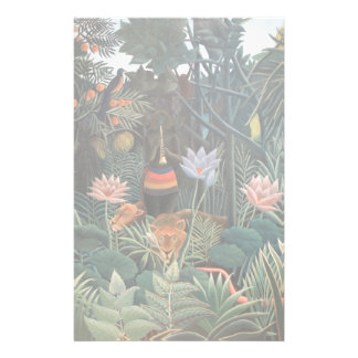 Henri Rousseau The Dream Jungle Flowers Naive Art Stationery