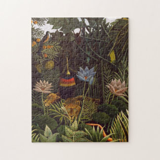 Henri Rousseau The Dream Jungle Flowers Painting Jigsaw Puzzle