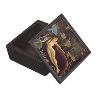 Henri Rousseau The Dream Jungle Flowers Painting Premium Keepsake Boxes