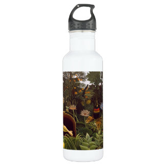 Henri Rousseau The Dream Jungle Flowers Painting Stainless Steel Water Bottle