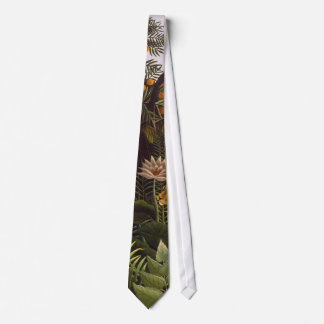 Henri Rousseau The Dream Jungle Flowers Painting Tie