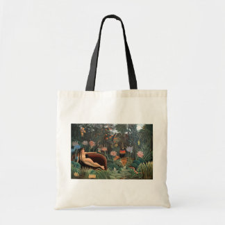 Henri Rousseau The Dream Jungle Flowers Painting Tote Bag