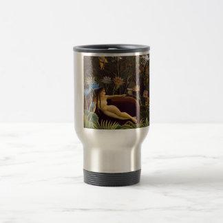 Henri Rousseau The Dream Jungle Flowers Painting Travel Mug