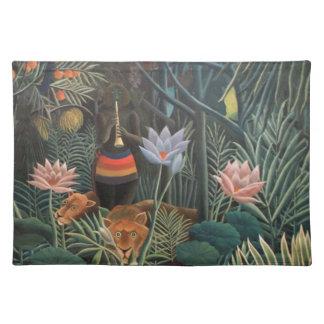 Henri Rousseau The Dream Jungle Flowers Surrealism Cloth Placemat
