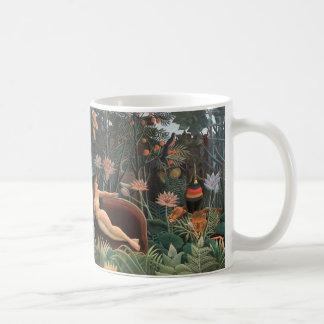 Henri Rousseau The Dream Jungle Flowers Surrealism Coffee Mug