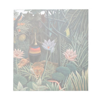 Henri Rousseau The Dream Jungle Flowers Surrealism Memo Note Pads