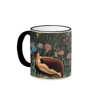Henri Rousseau The Dream Jungle Flowers Surrealism Ringer Coffee Mug