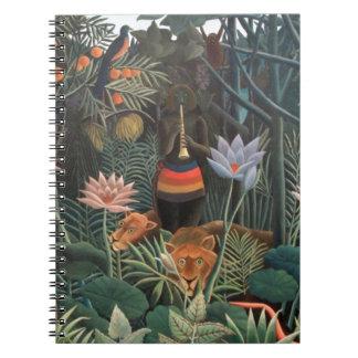 Henri Rousseau The Dream Jungle Flowers Surrealism Notebook