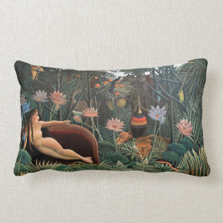 Henri Rousseau The Dream Jungle Flowers Surrealism Throw Pillow