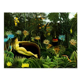 Henri Rousseau The Dream Postcard