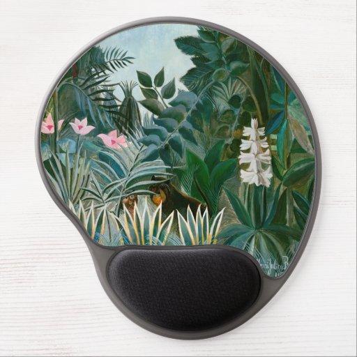 Henri Rousseau - The Equatorial Jungle Gel Mouse Pad