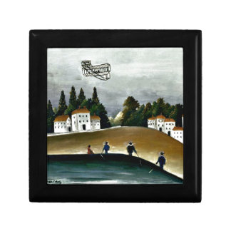 Henri Rousseau - The Fishermen and the Biplane Gift Boxes