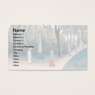 Henri Rousseau - The Luxembourg Gardens Business Card