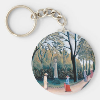 Henri Rousseau - The Luxembourg Gardens Keychain