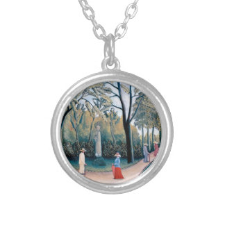Henri Rousseau - The Luxembourg Gardens Silver Plated Necklace