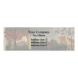 Henri Rousseau- The Poultry Yard Double-Sided Mini Business Cards (Pack Of 20)
