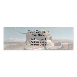 Henri Rousseau- The Sleeping Gypsy Business Card Templates