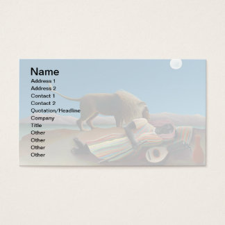Henri Rousseau - The Sleeping Gypsy Business Card