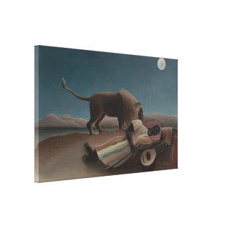 Henri Rousseau - The Sleeping Gypsy Canvas Prints