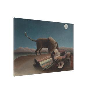 Henri Rousseau - The Sleeping Gypsy Gallery Wrap Canvas