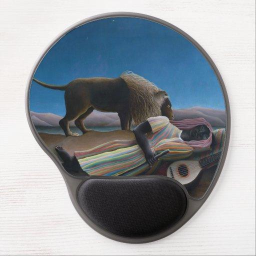 Henri Rousseau - The Sleeping Gypsy Gel Mouse Pad