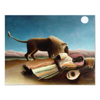 "Henri Rousseau The Sleeping Gypsy Invitations 4.25"" X 5.5"" Invitation Card"