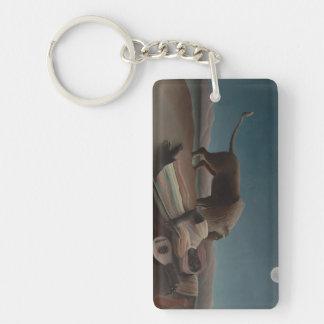 Henri Rousseau - The Sleeping Gypsy Keychain