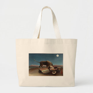Henri Rousseau The Sleeping Gypsy Large Tote Bag