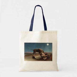 Henri Rousseau The Sleeping Gypsy Lion Moon Night Bag