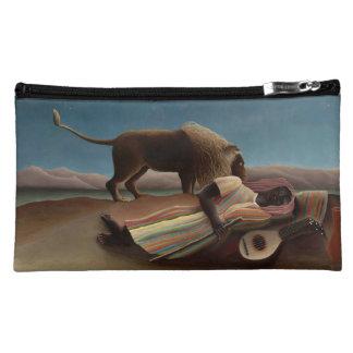 Henri Rousseau The Sleeping Gypsy Lion Moon Night Makeup Bag