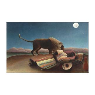 Henri Rousseau The Sleeping Gypsy Lion Moon Night Gallery Wrap Canvas