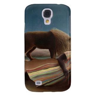 Henri Rousseau The Sleeping Gypsy Lion Moon Night Galaxy S4 Covers