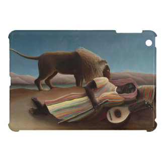 Henri Rousseau The Sleeping Gypsy Lion Moon Night iPad Mini Cases